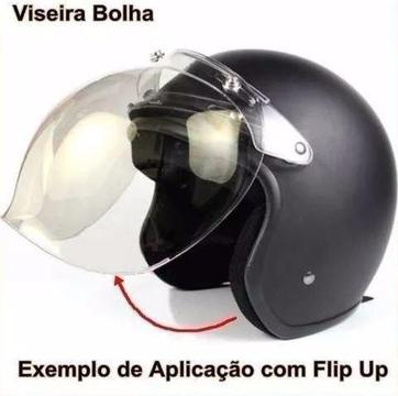 Viseira Bolha Bubble Para Capacetes Custom Com Flip