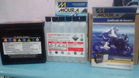 Bateria moura para motos antigas MA4D- 4amperes