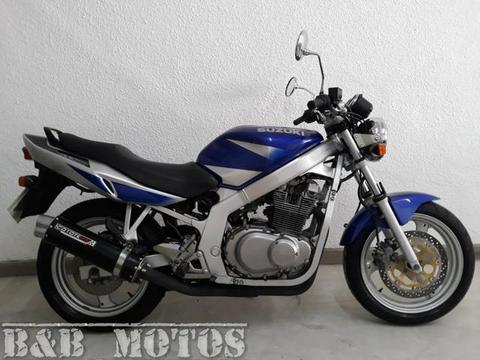 SUZUKI GS 500 2002 AZUL n CB 500 XJ6 HORNET - 2002