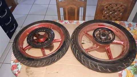 Jogo de roda liga leve da moto Twister 250